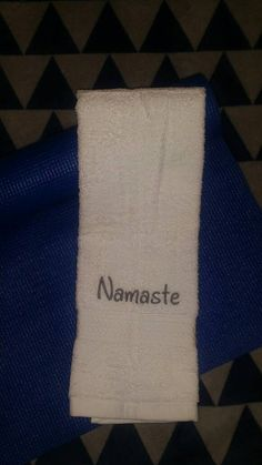 Check out this item in etsy namaste-embroidered-yoga-towel. This would make the perfect gift for my yoga instructor!