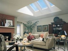 "Skylight for the kitchen? This would include lowering the ceiling height over the kitchen area and making the ""triangle cut away roof bit""...."