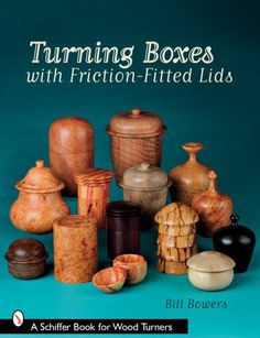 Turning Boxes with Friction-Fitted Lids (Schiffer Book for Woodturners) by Bill Bowers. $10.19. Publisher: Schiffer Publishing (May 28, 2008). Author: Bill Bowers. Series - Schiffer Book for Woodturners. Publication: May 28, 2008