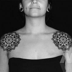 «Tattoo by @manuelwinklertattooartist #Blackworkers #tattoo #bw #blackwork #blacktattoo #bwplague #dotwork»