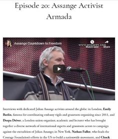 Episode Assange Activist Armada — Assange Countdown to Freedom Thomas Drake, Freedom, Interview, Reading, Pilgrim, Liberty, Political Freedom