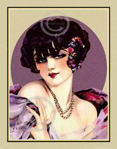 Gorgeous Art Deco Print Henry Clive Rare by DragonflyMeadowsArt