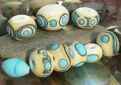 Ivory and turquoise beads