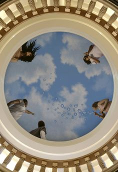 Love art! And ceiling art is so beautiful. Reminds me of a very simplified sisteen chapel piece.