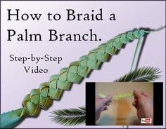 Catholic arts, crafts, games, activities, and ideas to help parents and teachers share the faith with children! Palm Branch Craft, Palm Cross, Palm Frond Art, Flax Weaving, Leaf Crafts, Diy Crafts, Easter Crafts, Easter Decor, Easter Ideas