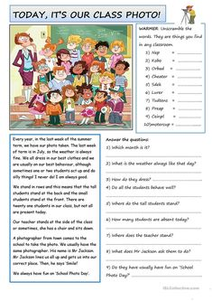 Class Photo worksheet - Free ESL printable worksheets made by teachers