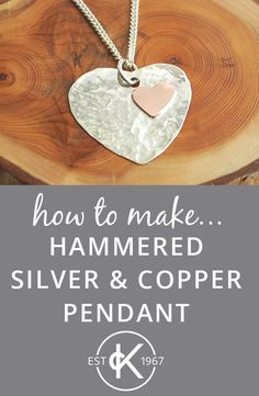 How To Make A Hammered Copper & Silver Heart Pendant Handmade Necklaces, Handmade Jewelry, Jewelry Shop, Diy Jewellery, Armband Diy, Diy Jewelry Inspiration, Jewelry Ideas, Necklace Ideas, How To Make Necklaces