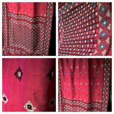 Sindhi embroidery with mirror work on pure raw dupion silk Worldwide shipping available For queries kindly whatsapp at 00447889562384