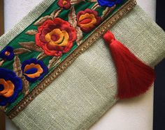 Bohemian clutch Ethnic Clutch Womens Bag Mothers day Gift