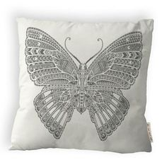 Big Butterfly Pillow White now featured on Fab.
