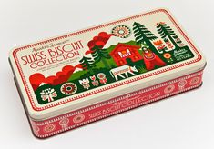 マリメッコのデザイナーとしても知られる英国在住のイラストレーターSanna Annukkaがパッケージデザインを手がけたビスケットケース。英国の小売販売業グループMarks and Spencerが、2009年に創立125周年を記念して制作したクリスマス特別仕様のボックスです。Sanna Annukkaのスタイルは一目で彼女のものと分かる個性的なキャラクターが特徴的ですが、テキスタイルデザインとは異なり、ストーリー性のあるこのボックスはきっと数年後にコレクターズアイテムとして人々に大切に保管されていくのではないでしょうか。彼女はこの他にもこんなキャンディーのパッケージデザインを制作しています。