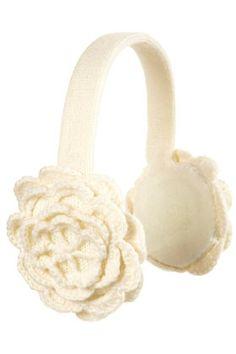 white floral earmuff
