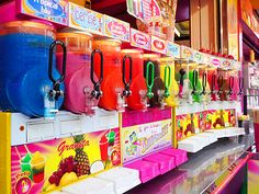 slushies are toooo great! should we get one for our place! Pink Summer, Summer Fun, Summer Time, Summer Baby, Slurpee, Slushies, Slushie Machine, Sleepover Food, Slush Puppy