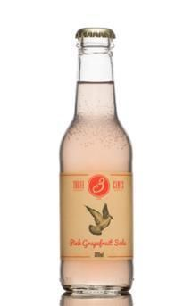Three Cents Pink Grapefruit Soda - Beer, Wine and Spirits