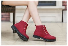 $19.25- Winter Wearable Skidproof Lace-up Ankle Boot for Women  #boot #ankleboot