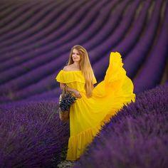 Erotic Photography, Portrait Photography, Fashion Photography, Lavender Fields, Lavender Flowers, Girl Photo Poses, Girl Photos, Yellow Photography, Valensole