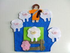 Luva de Histórias Bíblicas  - A ovelha perdida R$ 15,00