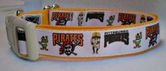 Pittsburgh Pirates Dog Collar large by dlkompare on Etsy, $12.00.  Let's Go Pirates!