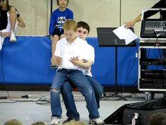 Brett with Porter - 4th Grade Talent Show - Ventriloquist Act - 5-13-11 - YouTube