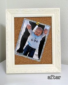 revamped picture frames and cute push pins