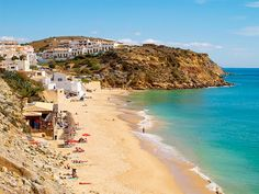 #Beach Praia do Burgau, Algarve, Portugal | via http://blog.turismodoalgarve.pt
