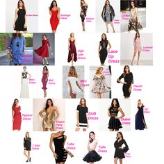 If you are confused about all the different types of dresses for different occas. Dress Style Names, Dress Name, Dress Indian Style, Types Of Dresses Styles, Different Types Of Dresses, Types Of Fashion Styles, Fashion Terminology, Fashion Terms, Fashion Today