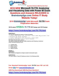 [2018-6-New]Braindump2go 70-778 Dumps PDF 60Q Free Share(31-36) Data Center Infrastructure, Cloud Infrastructure, Question And Answer, This Or That Questions, 10th Exam, Routing And Switching, Microsoft Dynamics, Business Studies