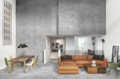 Cemento - Diseños - Hazlo con Cerámicos Conference Room, Divider, Table, Furniture, Home Decor, Industrial Style, Cement, Decoration Home, Room Decor
