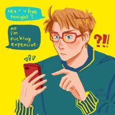 alfred texting arthur