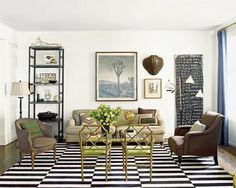 nate berkus - chairs with see-through backs to open up space