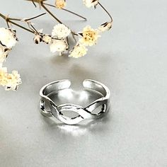 Shop unique handmade goods from OneYellowButterflyy. Sterling Silver Toe Rings, Silver Rings, Ethical Fashion, Infinity, Artisan, Handmade, Jewelry, Infinite, Hand Made