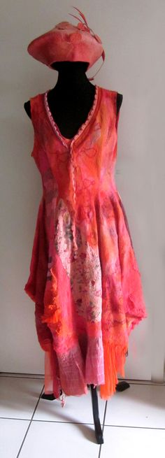 felted dress--would be nice in woven fabric + embroidery