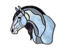 Andalusian - from the Breed All About It Series is a Stained Glass horse portrait of an Andalusian horse from EquineArtglass.com. This piece features a blue/white body with a gray/purple mane and a detailed filigree face.