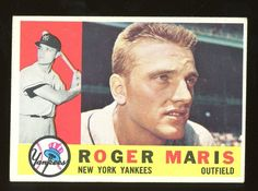 1960 Topps # 377 Roger Maris New York Yankees (Baseball Card) Dean's Cards 3 - VG - deal winter My Yankees, New York Yankees Baseball, Baseball Cards For Sale, Babe Ruth, Baseball Players, Baseball Movies, Baseball Gear, Baseball Quotes, Mickey Mantle