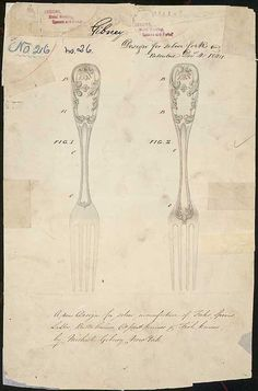 Design for Silver Forks - government archives
