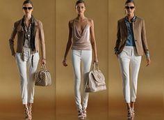 Pantalones blancos de vestir para mujer