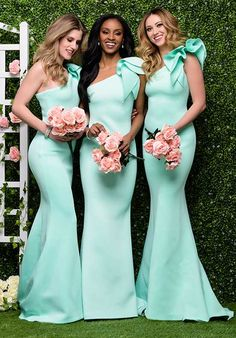 Bridesmaid Dresses Gorgeous One Shoulder Mint Green Mermaid long Bridesmaid Dress - Tiffany Blue Bridesmaids, Mint Green Bridesmaid Dresses, One Shoulder Bridesmaid Dresses, Mermaid Bridesmaid Dresses, Mint Green Wedding Dress, Dresses For Bridesmaids, Tiffany Blue Dress, Black Bridesmaids, Shoulder Dress