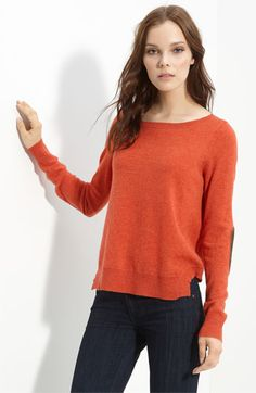 autumn cashmere Elbow Patch Cashmere Sweater