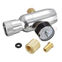 CO2 Keg Regulator With Gauge 60PSI Injector Premium Homebrew Regulated Capsule  #UnbrandedGeneric