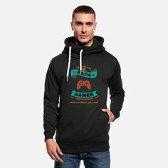 Je suis un Papa Gamer plus cool shirt cadeau Sweat à capuche cache-cou unisexe Cadeau Design, Stay Warm, Hoodies, Sweatshirts, Fabric Weights, Shawl, Best Gifts, Graphic Sweatshirt, Cool Stuff