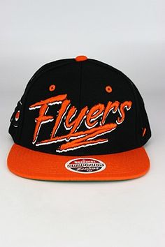 fef06a28636 Zephyr Razzle Philadelphia Flyers Snapback Hat Black - Orange - White
