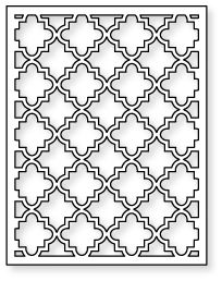 Papertrey Ink - Cover Plate: Quatrefoil Die Need this! Stencil Patterns, Tile Patterns, Pattern Art, Islamic Art Pattern, Arabic Pattern, Geometry Pattern, Willow Flower, Coloring Books, Coloring Pages