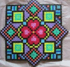 Aztec hama perler bead art by Keely Jade