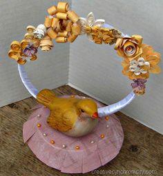 Paper Quilled Wedding Cake Topper, CreativeCynchronicity.com