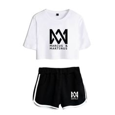 T-shirt Shorts Pants Marcus Martinus Tracksuit Women Collars For Women, Suits For Women, T Shirts For Women, Clothes For Women, T Shirt And Shorts, Tour T Shirts, Gym Shorts Womens, Hoodies, Woman Suit