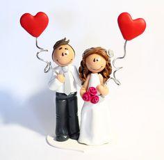 Customized wedding cake topper RESERVED by TheLittleMandarine