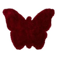 Alfombra Hong Kong 3663 Butterfly de Think, rojo