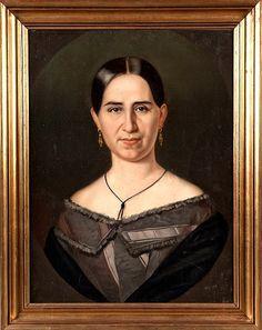 'Portrait of Mrs. Felicitas Puig de Casassús' by Juan Cordero (Mexican, 1822-1884). Oil on canvas.
