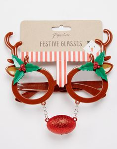 Paperchase Christmas Reindeer Glasses