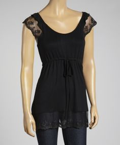Cute idea for a top, could use extra lace from black skirt I'm making for the arms and base, this shirt is rayon/spandex